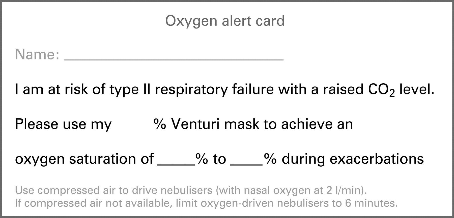 BTS guideline for emergency oxygen use in adult patients | Thorax