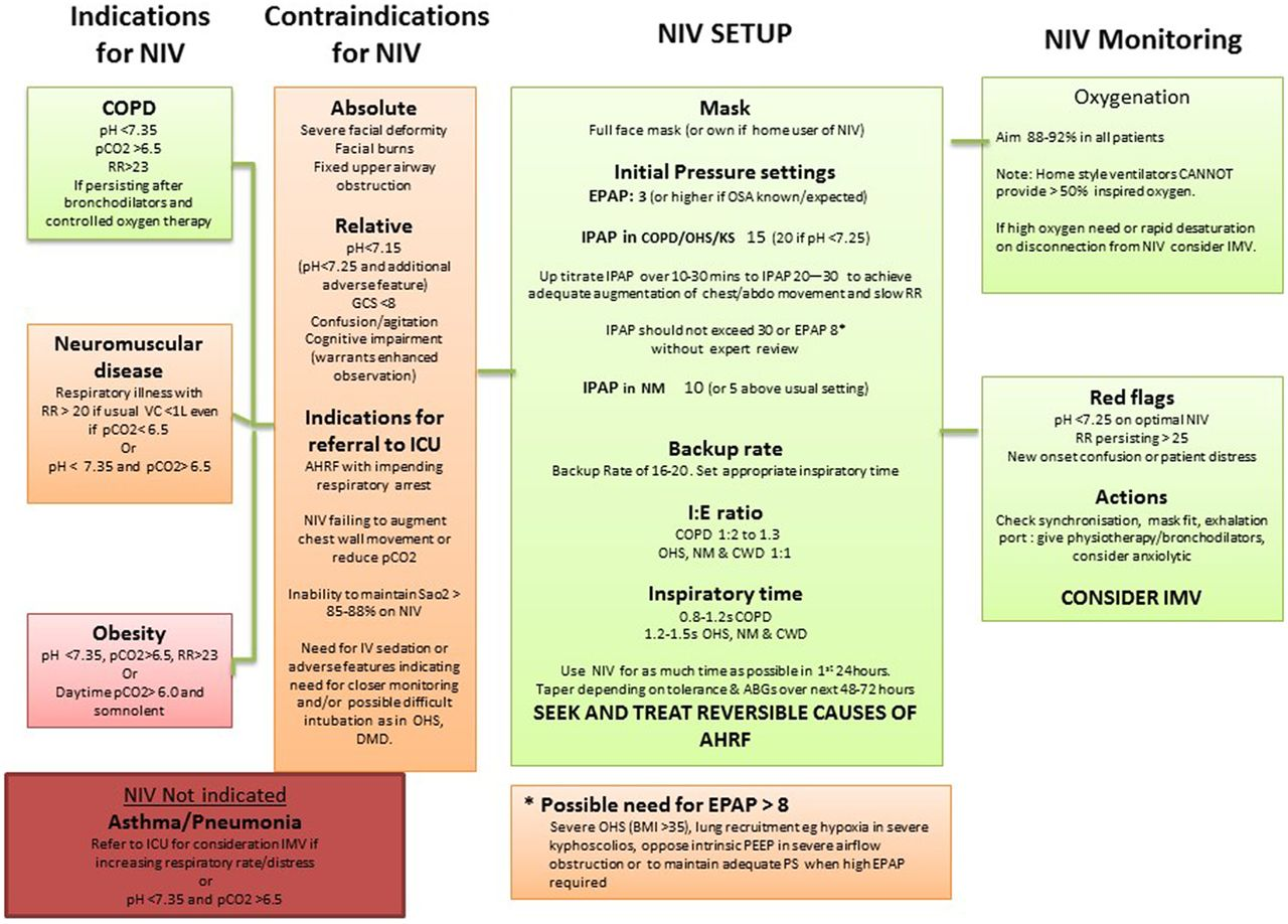 BTS/ICS guideline for the ventilatory management of acute