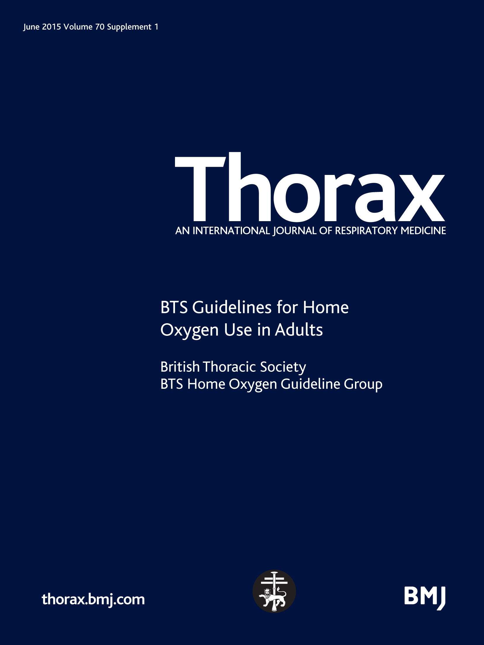 British Thoracic Society guidelines for home oxygen use in