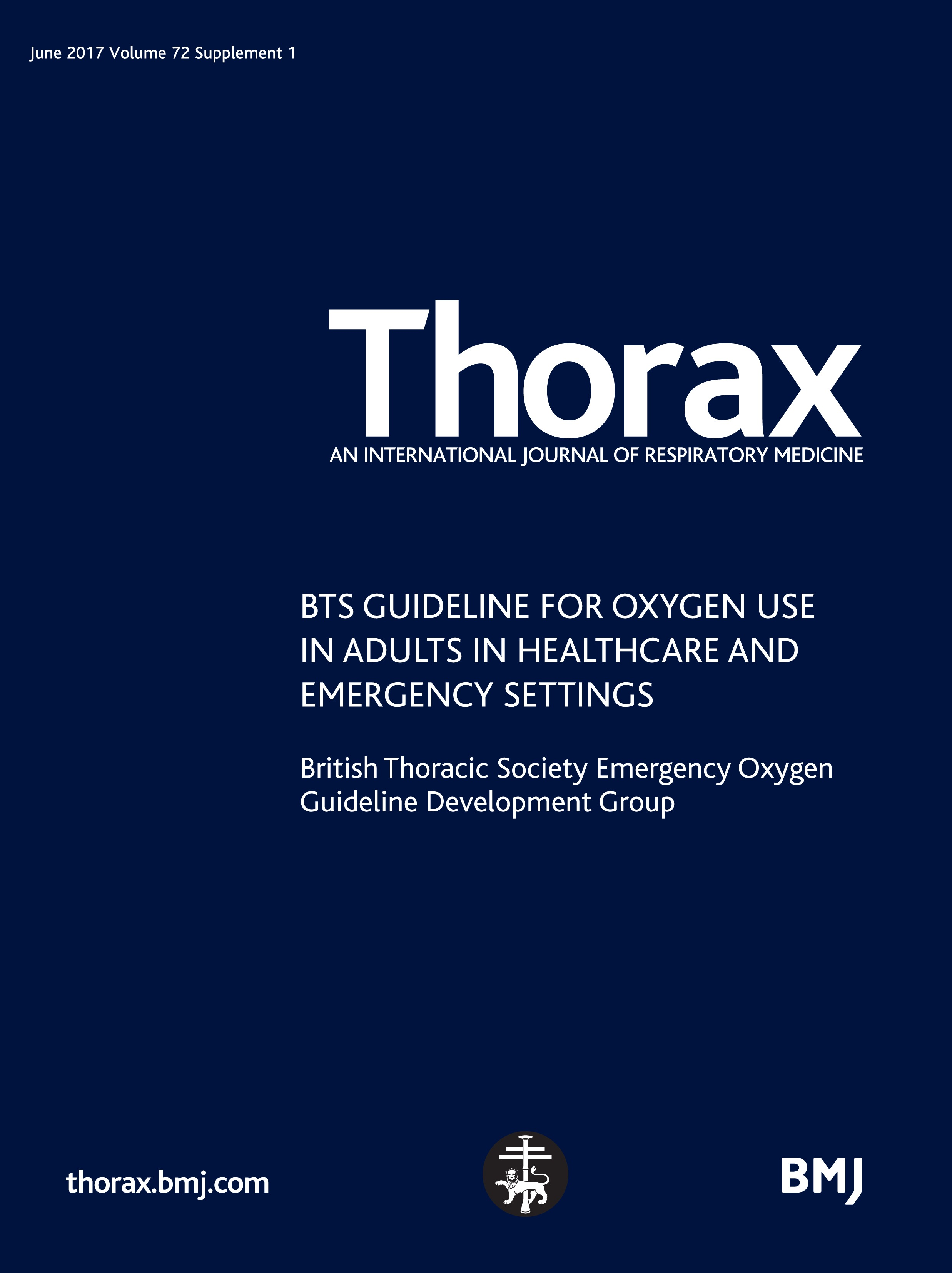 BTS guideline for oxygen use in adults in healthcare and